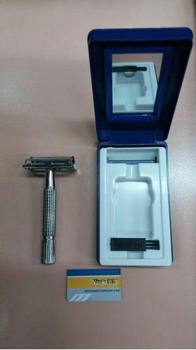 máquina de afeitar metálica para hojas gillette