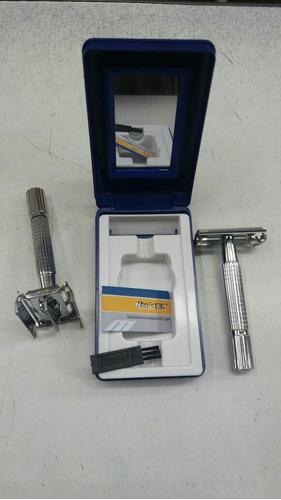 máquina de afeitar metálica para hojas gillette perfumeria