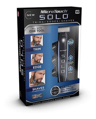 máquina de afeitar microtouch micro touch solo, recargable