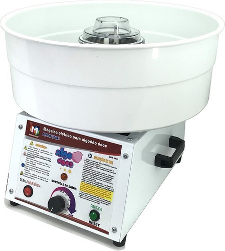 maquina de algodao doce profissional ad-43 inovamaq + brinde