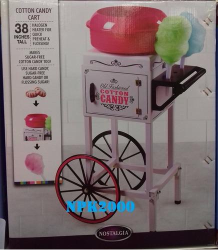 maquina de algodones con carrito metalico nostalgia ccm510