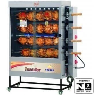 maquina de assar 20 assadeira de frangos frangueira progas