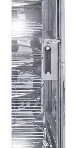 maquina de assar frango giratoria em inox 120kg + brindes