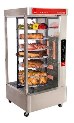 máquina de assar frangos giratória frangueira 70kg 7 grades