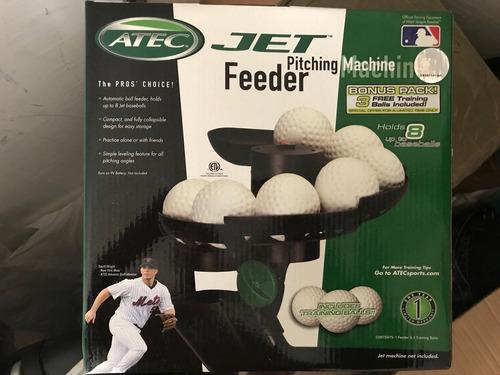 máquina de bateo atec oficial mlb con dispensador y 8 pelota