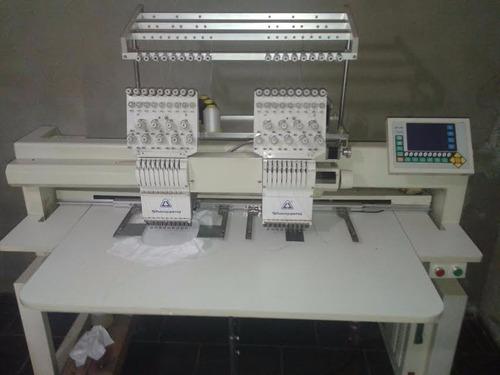 máquina de bordar duas cabeças shangong