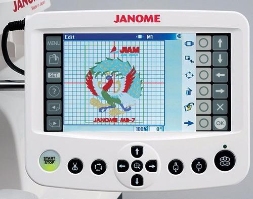 maquina de bordar,bordadora janome mb-7. nuevo modelo