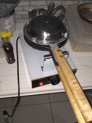 máquina de bubble waffle profissional
