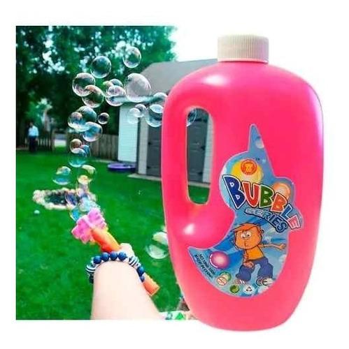 maquina de burbujas +2 litros de liquido + bola de disco led