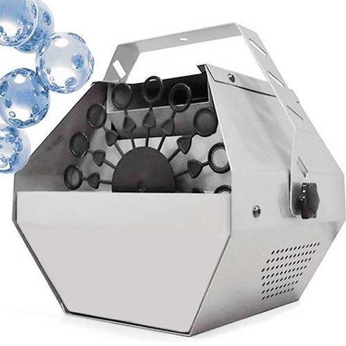 maquina de burbujas metalica + 1 litro de liquido fiestaclub