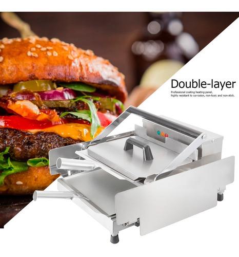 máquina de calentamiento de pan de hamburguesa de doble cap
