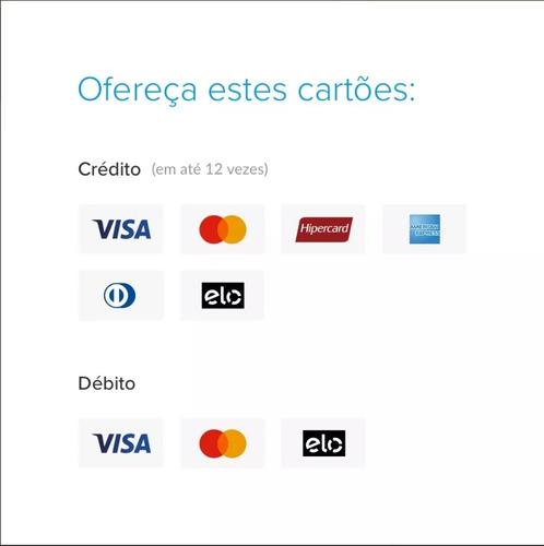 maquina de cartões do mercado livre
