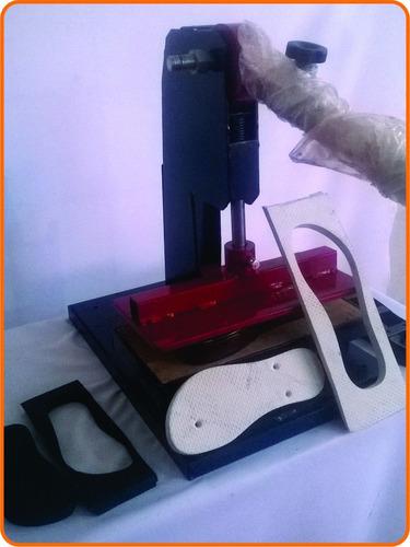 maquina de chinelo com 15 facas,rebaixa furos e coloca tiras