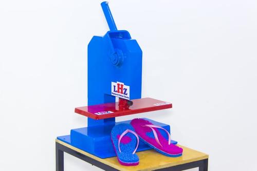 maquina de chinelo manual corta em  único movimento
