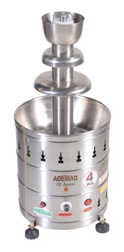 maquina de chocolate cascata 3 andares em inox bivolt ademaq