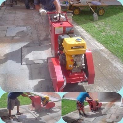 maquina  de cortar asfalto, concreto,pedras , etc...