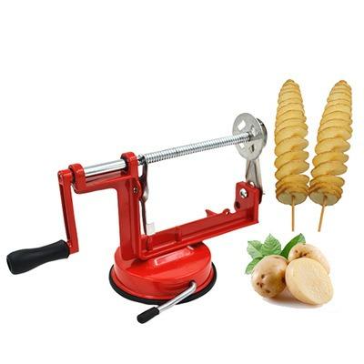 maquina de cortar batatas espiral chips pronta entrega