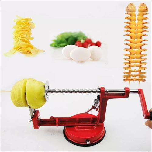maquina de cortar batatas legumes espiral chips produto novo