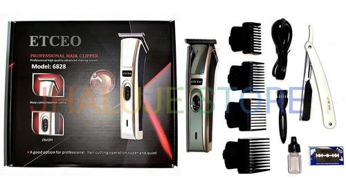 maquina de cortar cabello inalámbrica + navaja de afeitar