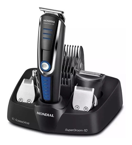 máquina de cortar cabelo 10 em 1 barba e corpo ( gc625 )