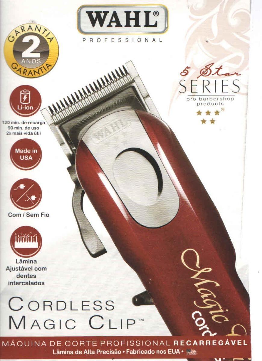 1622abae4 maquina de cortar cabelo magic clip cordless wahl sem fio. Carregando zoom.