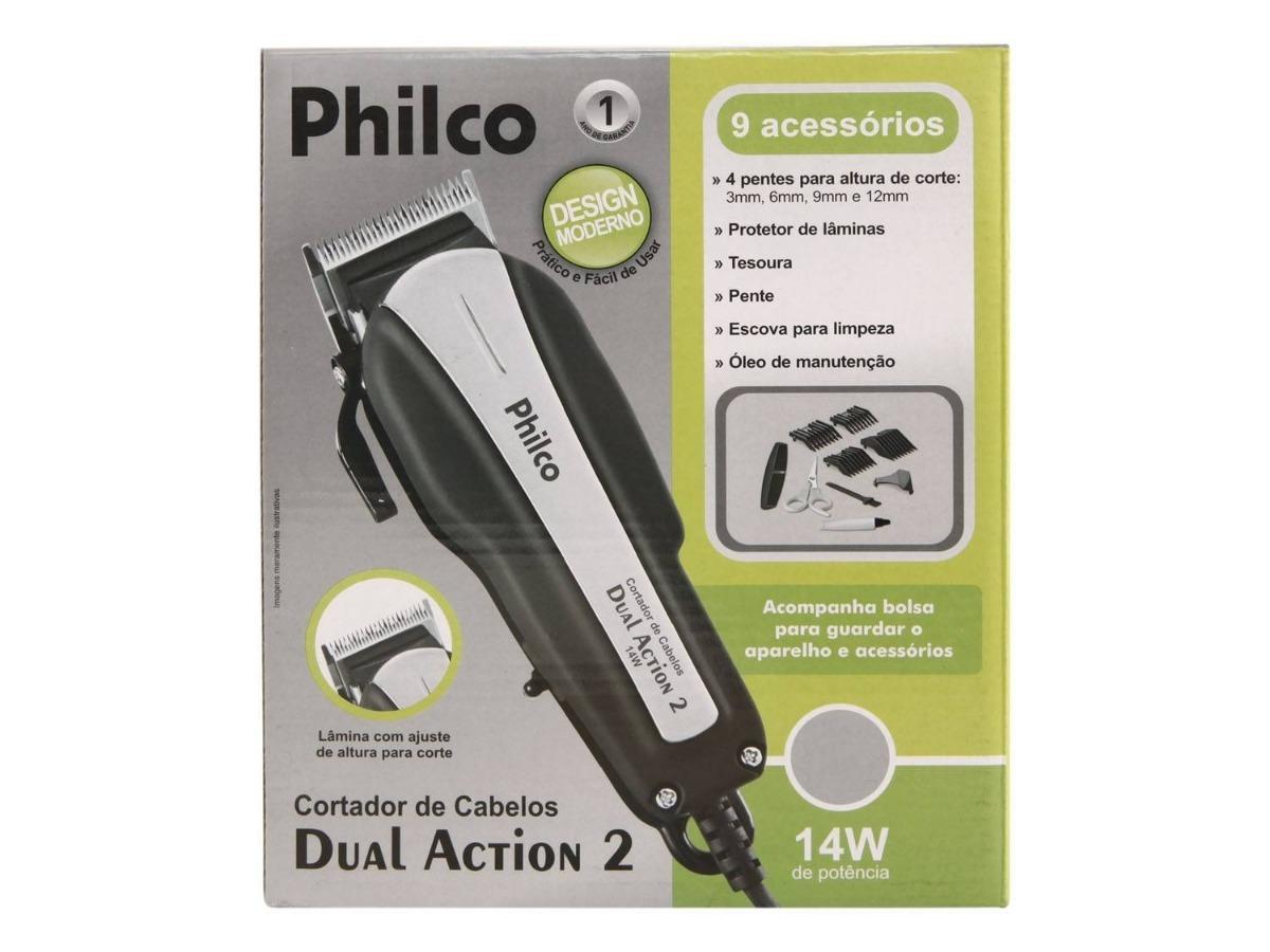 450edbc37 maquina de cortar cabelo philco 9 ac+ aparador de pelos 110v. Carregando  zoom.