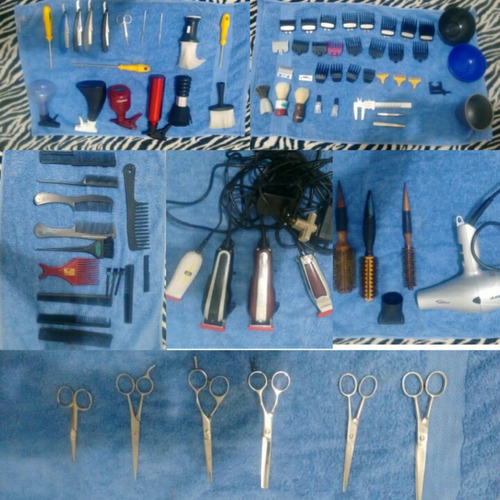 maquina de cortar cabelo, tesoura, tudo para barbeiro..