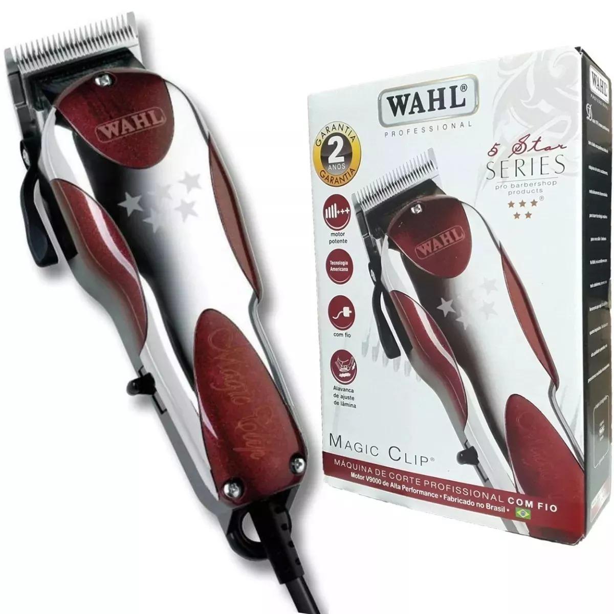 2e740489c maquina de cortar cabelo wahl magic clip v9000 legítima 110v. Carregando  zoom.