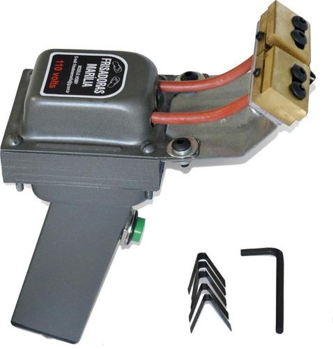 maquina de cortar e frisar chinelos 110v - com guia e manual