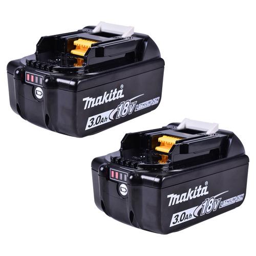 máquina de cortar grama 2 baterias 18v dlm380zp makita 127v