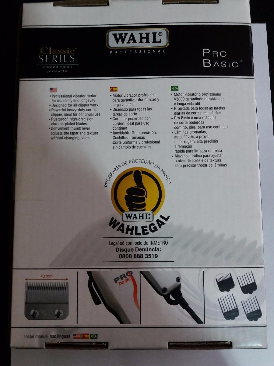 máquina de corte 220v pro basic branca wahl profissional. Carregando zoom. b5906f04de1c