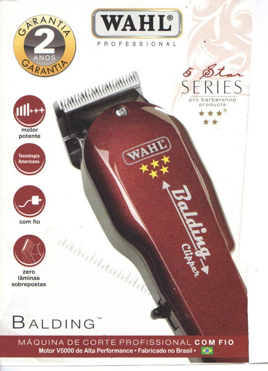 14345b83f Máquina De Corte Cabelo Balding Wahl 127v - R$ 441,80 em Mercado Livre