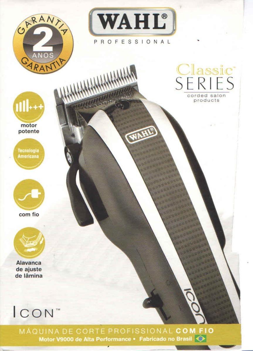 06a42532f máquina de corte cabelo icon wahl 220v original, v9000. Carregando zoom.