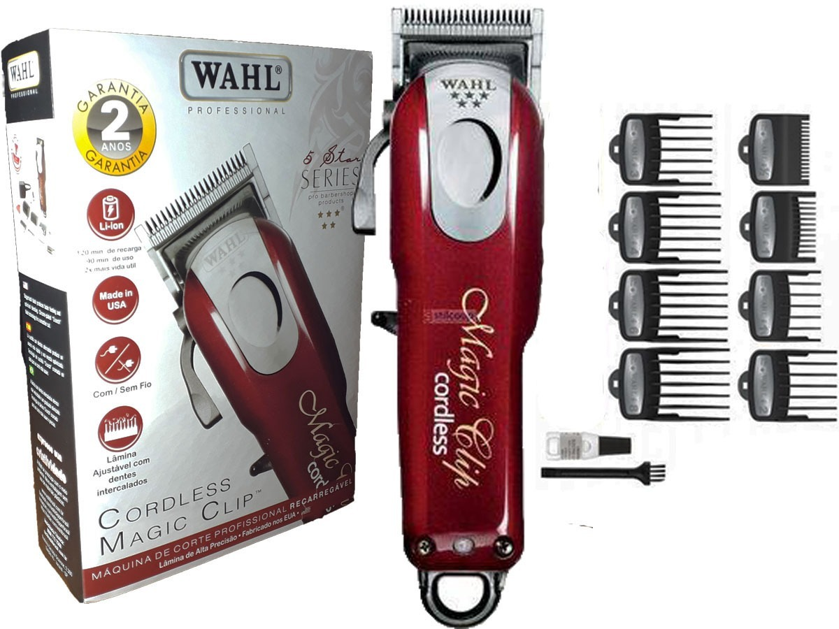 8099859d7 maquina de corte cabelo wahl magic clip cordless bateria. Carregando zoom.
