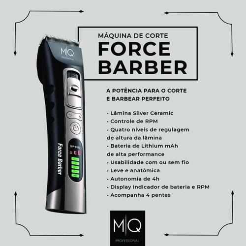 máquina de corte force barber - mq