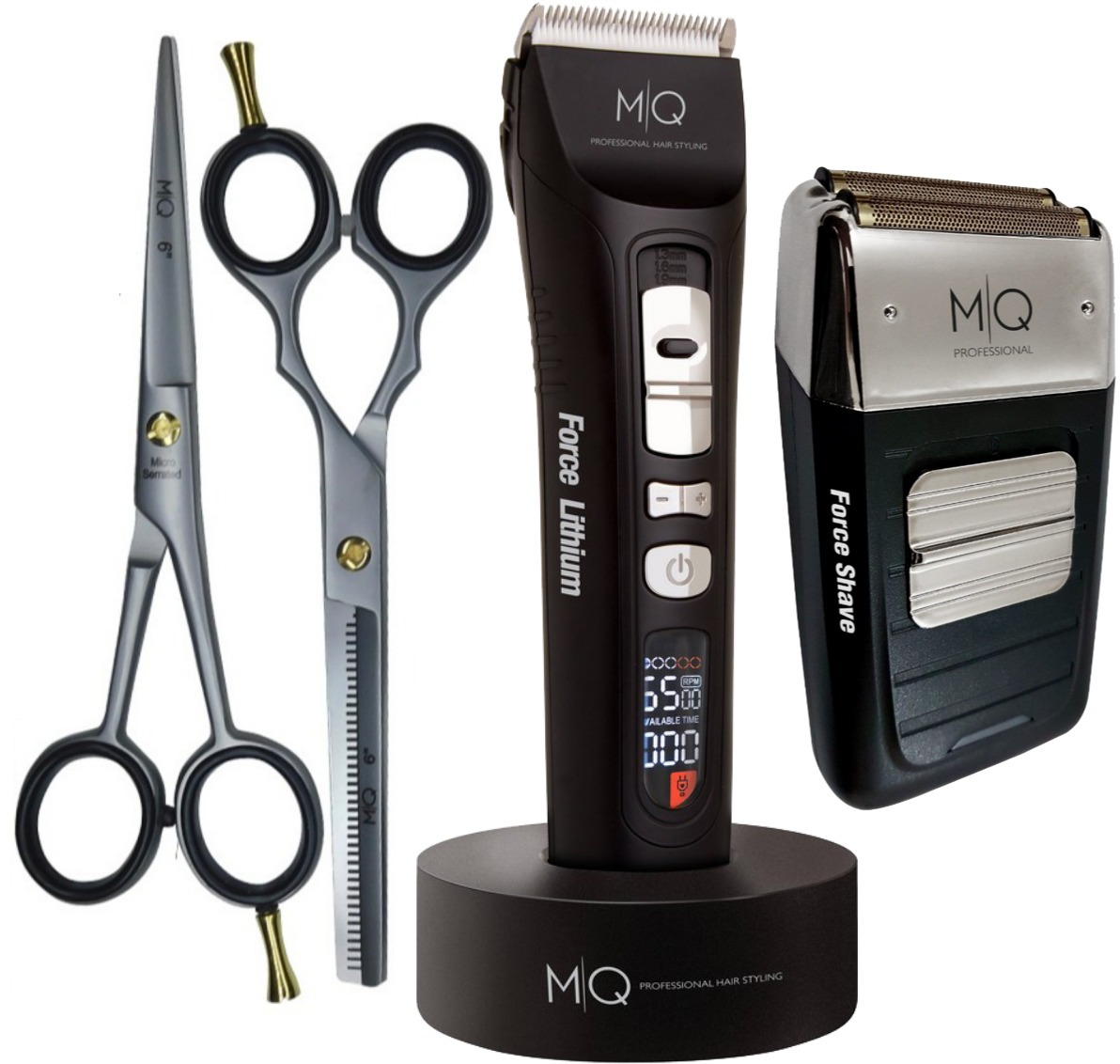 7011a64b4 Máquina De Corte Force Lithium + Shave Mq + Kit De Tesouras - R$ 699 ...