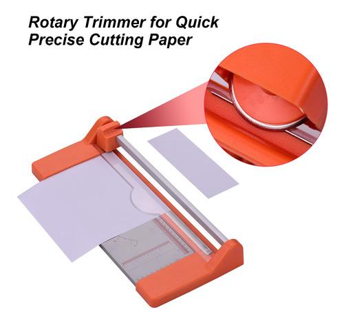 máquina de corte y corte de papel rotativa compacta para