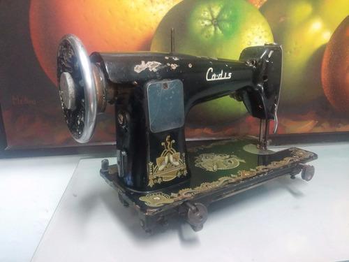 maquina de coser antigua marca cadis decorativa