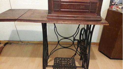 maquina de coser antigua new home hecha en  u.s.a