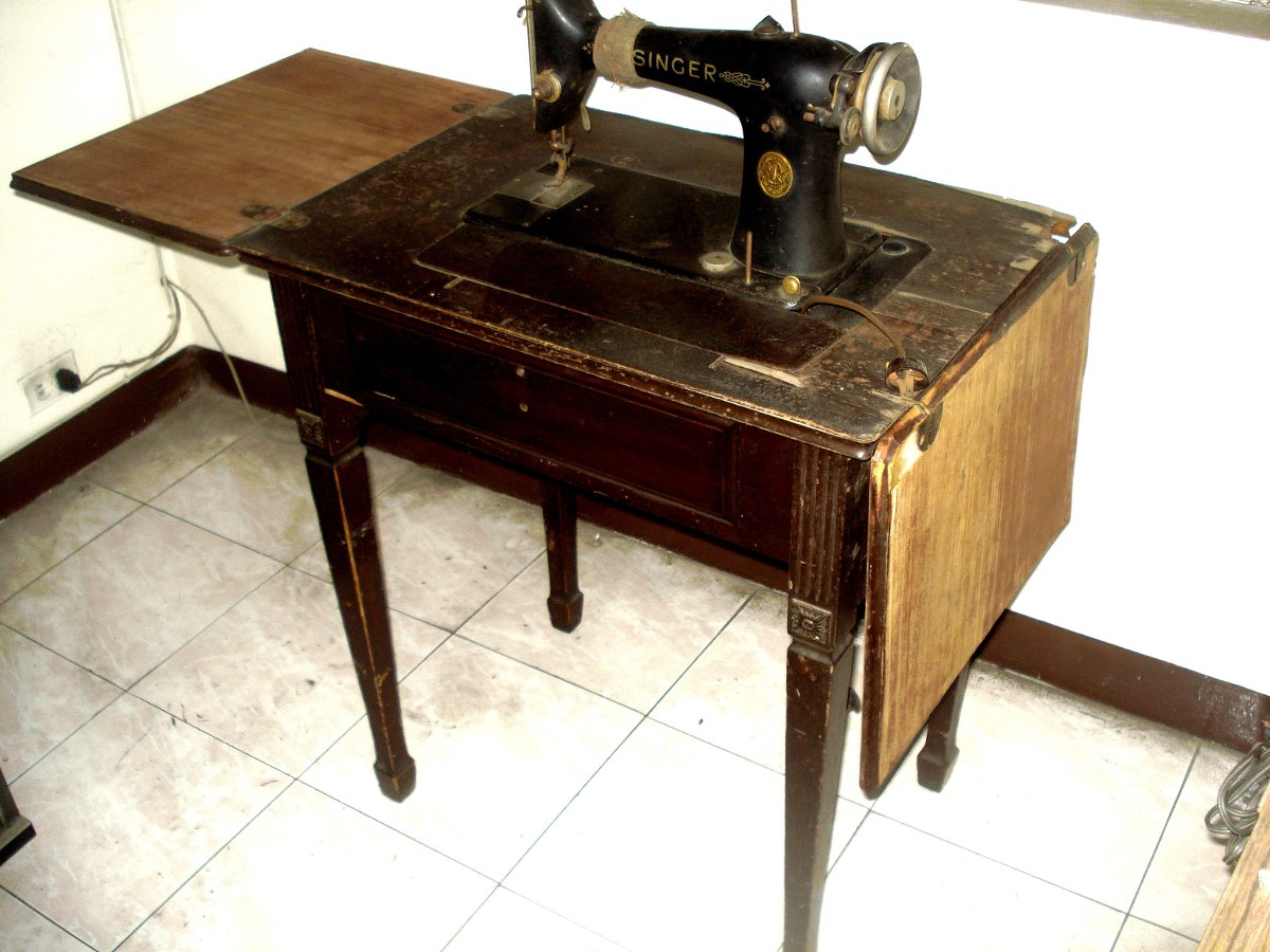 Maquina De Coser Antigua Singer Con Mueble 400 000 En  # Muebles Maquina De Coser Segunda Mano