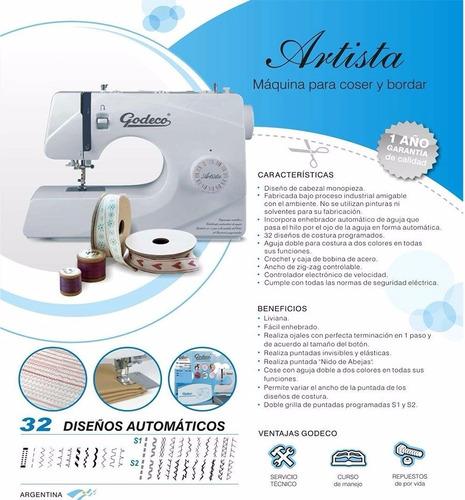 maquina de coser artista godeco