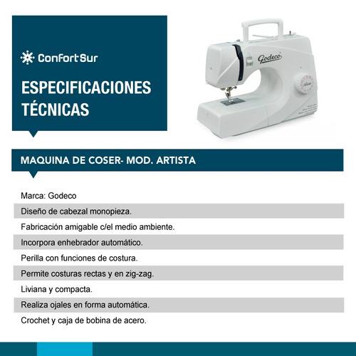 máquina de coser bordar godeco artista  envio gratis *9