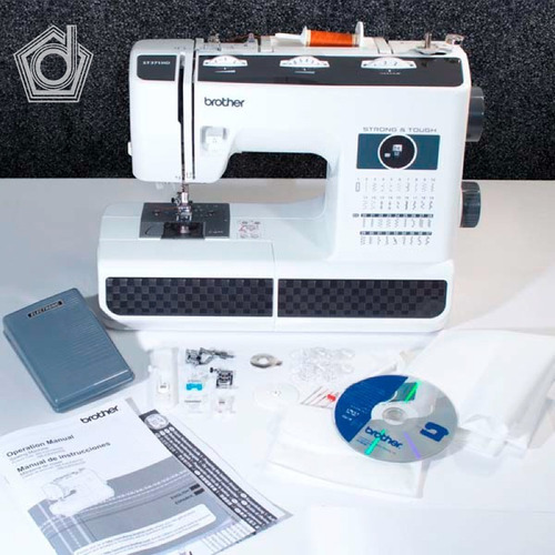 máquina de coser brother st371hd - trabajo pesado
