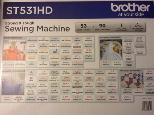 maquina de coser brother st531hd, (armazon metalico)