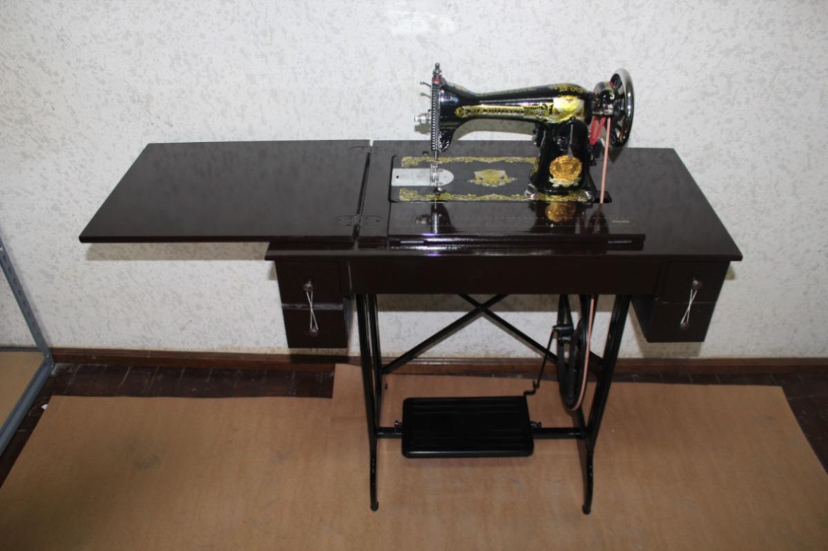Maquina De Coser Domestica Costura Recta Con Mueble