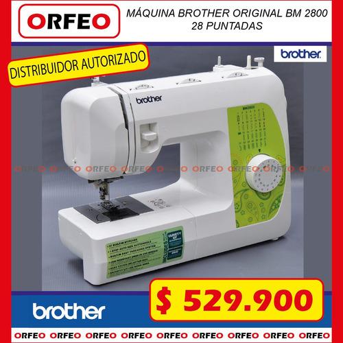 máquina de coser familiar  brother bm 2800 28 puntadas