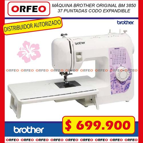 maquina de coser familiar brother  bm 3850. codo expandible