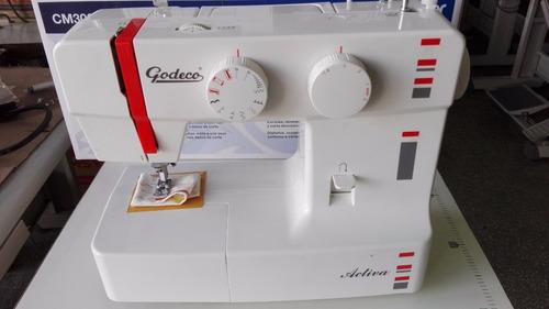 máquina de coser godeco activa 9 diseños zigzag ojalador env