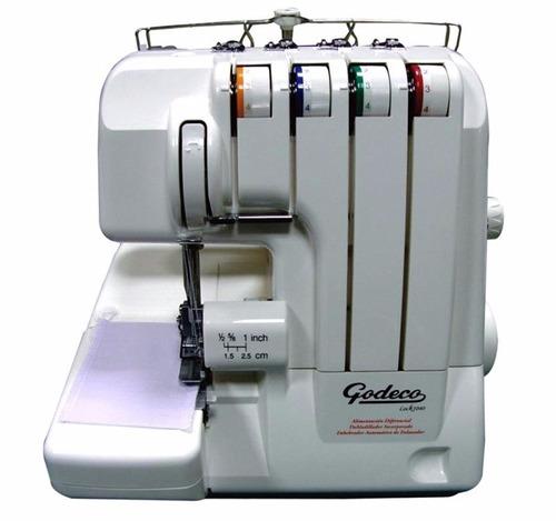 máquina de coser godeco overlock 1040 + curso manejo gratis