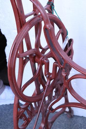 máquina de coser hierro mesa - antig la rueda _ l r